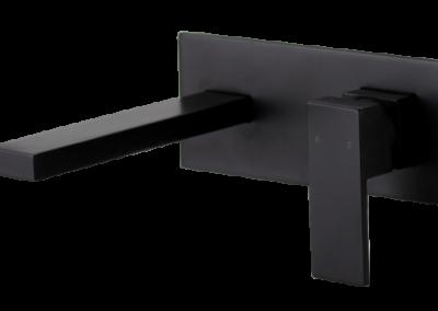 Kubos Wall Plate Mixer - Black